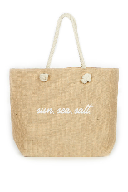 Sun. Sea. Salt. Beach Bag
