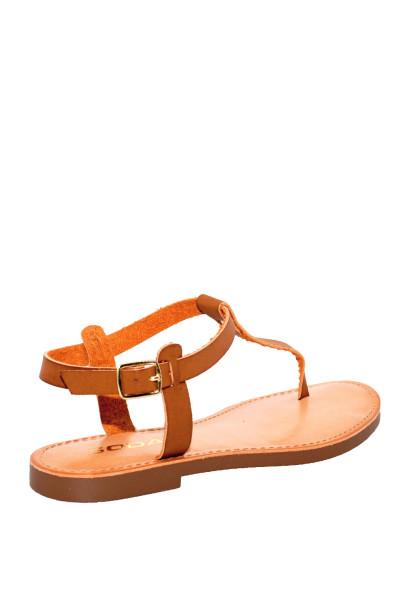 """""""Dime A Dozen"""" Tan Flat Sandals"""