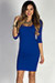 """Dylan"" Royal Blue 3/4 Sleeve Cute and Casual Bodycon Dress"