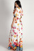 """Too Good To You"" White Open-Sleeve Floral Maxi Dress"