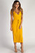 """""""Next To You"""" - Mustard Ribbed Wrap Dress"""