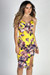 """Live It Up"" Yellow Floral Print Strappy Midi Slip Dress"
