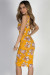 """California Love"" Mustard Floral Bodycon Tank Dress"