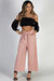 """French Riviera"" Pink Wide-Leg Crop Pants"