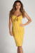 """Eye Candy"" Mustard Striped Sweetheart Midi Dress"