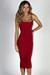 """Angel Heart"" Red Elegant Simple Bodycon Long Midi Dress"