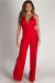 """Never Be Yours"" Red Lace Top Jumpsuit"