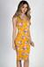 """California Love"" Mustard Floral Bodycon Tank Dress"