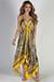 """Mimosas & Sunshine"" Yellow Print Scarf Dress"