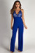 """Never Be Yours"" Royal Blue Lace Top Jumpsuit"