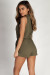 """Fall In Line"" Olive Sleeveless Cargo Romper"