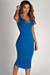 """Back To You"" Royal Split Neck Tank Dress"